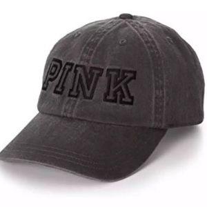Victoria's Secret PINK Baseball Hat Denim Black